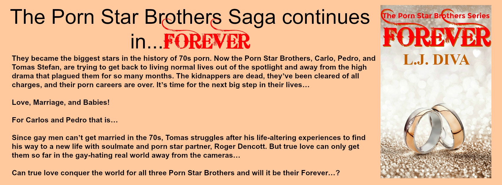 THE NEW PORN STAR BROTHERS BOOK…FOREVER…OUT NOW